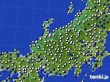 北陸地方のアメダス実況(風向・風速)(2020年04月18日)