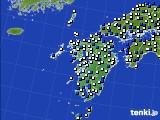 九州地方のアメダス実況(風向・風速)(2020年04月18日)