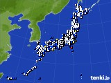 2020年04月18日のアメダス(風向・風速)
