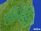 福島県のアメダス実況(風向・風速)(2020年04月18日)