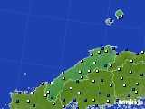 島根県のアメダス実況(風向・風速)(2020年04月18日)