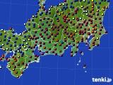 東海地方のアメダス実況(日照時間)(2020年04月19日)