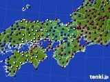 近畿地方のアメダス実況(日照時間)(2020年04月19日)