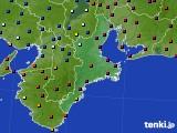 三重県のアメダス実況(日照時間)(2020年04月19日)