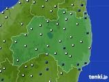 福島県のアメダス実況(風向・風速)(2020年04月19日)