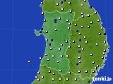 2020年04月19日の秋田県のアメダス(風向・風速)