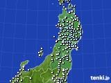 東北地方のアメダス実況(降水量)(2020年04月20日)