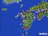 九州地方のアメダス実況(日照時間)(2020年04月20日)