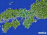 近畿地方のアメダス実況(風向・風速)(2020年04月20日)