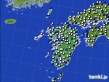 九州地方のアメダス実況(風向・風速)(2020年04月20日)