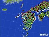 九州地方のアメダス実況(日照時間)(2020年04月21日)