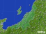 新潟県のアメダス実況(気温)(2020年04月21日)