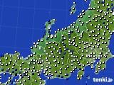 北陸地方のアメダス実況(風向・風速)(2020年04月21日)