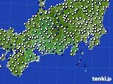 東海地方のアメダス実況(風向・風速)(2020年04月21日)