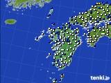 九州地方のアメダス実況(風向・風速)(2020年04月21日)