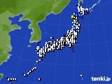 2020年04月21日のアメダス(風向・風速)