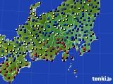 関東・甲信地方のアメダス実況(日照時間)(2020年04月22日)