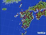 九州地方のアメダス実況(日照時間)(2020年04月22日)