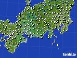 東海地方のアメダス実況(気温)(2020年04月22日)