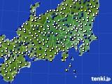 関東・甲信地方のアメダス実況(風向・風速)(2020年04月22日)