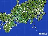 東海地方のアメダス実況(風向・風速)(2020年04月22日)