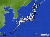 2020年04月22日のアメダス(風向・風速)