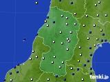 山形県のアメダス実況(風向・風速)(2020年04月22日)