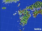 九州地方のアメダス実況(日照時間)(2020年04月23日)