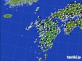 九州地方のアメダス実況(風向・風速)(2020年04月23日)