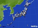 2020年04月23日のアメダス(風向・風速)