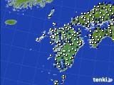 九州地方のアメダス実況(風向・風速)(2020年04月24日)