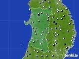 2020年04月24日の秋田県のアメダス(風向・風速)
