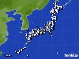 2020年04月25日のアメダス(風向・風速)