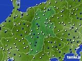 2020年04月25日の長野県のアメダス(風向・風速)