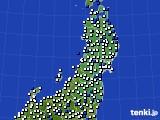 2020年04月26日の東北地方のアメダス(風向・風速)