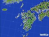 九州地方のアメダス実況(風向・風速)(2020年04月26日)