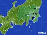 関東・甲信地方のアメダス実況(降水量)(2020年04月27日)