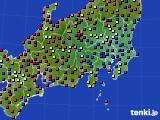 関東・甲信地方のアメダス実況(日照時間)(2020年04月27日)