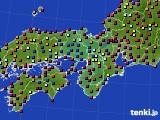 2020年04月27日の近畿地方のアメダス(日照時間)