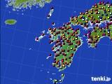 九州地方のアメダス実況(日照時間)(2020年04月27日)