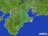三重県のアメダス実況(日照時間)(2020年04月27日)