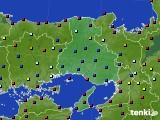兵庫県のアメダス実況(日照時間)(2020年04月27日)