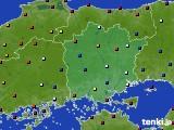 岡山県のアメダス実況(日照時間)(2020年04月27日)