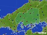 広島県のアメダス実況(日照時間)(2020年04月27日)