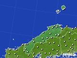 島根県のアメダス実況(気温)(2020年04月27日)