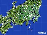 関東・甲信地方のアメダス実況(風向・風速)(2020年04月27日)