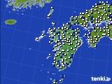 九州地方のアメダス実況(風向・風速)(2020年04月27日)