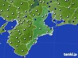 三重県のアメダス実況(風向・風速)(2020年04月27日)