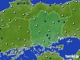 岡山県のアメダス実況(風向・風速)(2020年04月27日)