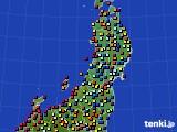 東北地方のアメダス実況(日照時間)(2020年04月28日)